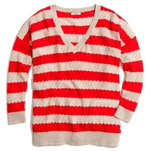 Madewell Striped Lakeview Sweater Cotton XS